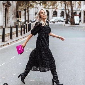 Zara contrasting voluminous dress